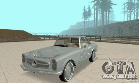 Mercedes-Benz 280SL (glossy) for GTA San Andreas upper view