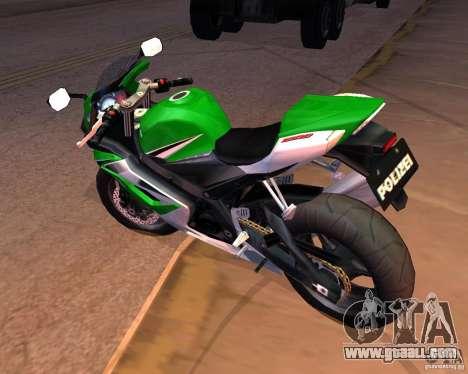 Suzuki 1000 Police for GTA San Andreas right view
