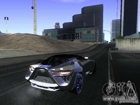Bertone Mantide for GTA San Andreas back left view