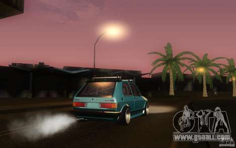 Volkswagen Golf GTI rabbit euro style for GTA San Andreas back view
