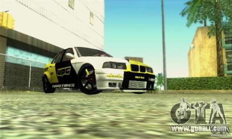 BMW E36 Urban Perfomance Garage for GTA San Andreas right view