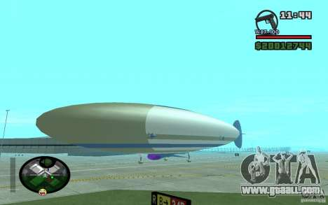 Large airship for GTA San Andreas back left view