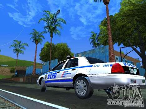 Ford Crown Victoria 2009 New York Police for GTA San Andreas right view