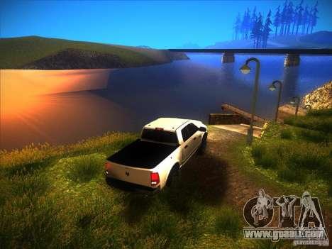 Dodge Ram Heavy Duty 2500 for GTA San Andreas inner view