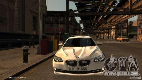 BMW 550i Azeri Police YPX for GTA 4 side view