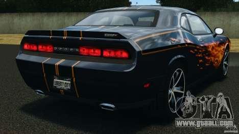 Dodge Challenger SRT8 392 2012 for GTA 4 back left view