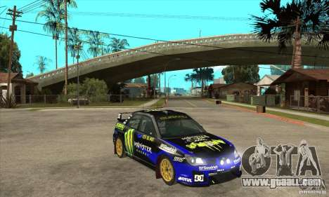 Subaru Impreza STi WRC wht1 for GTA San Andreas inner view
