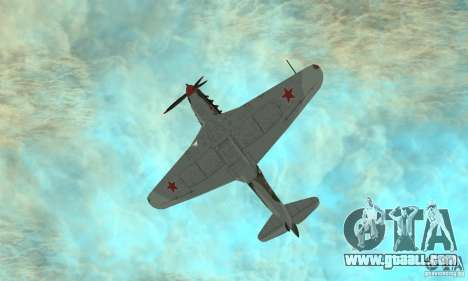 Yak-9 during WORLD WAR II for GTA San Andreas side view