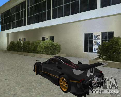 Pagani Zonda R for GTA Vice City right view