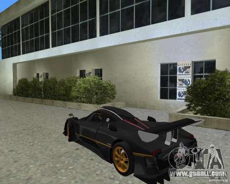 Pagani Zonda R for GTA Vice City right view