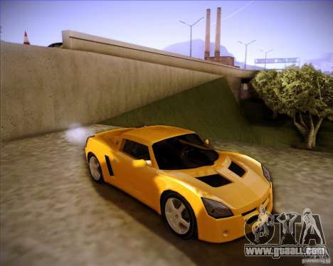 Opel Speedster for GTA San Andreas back left view