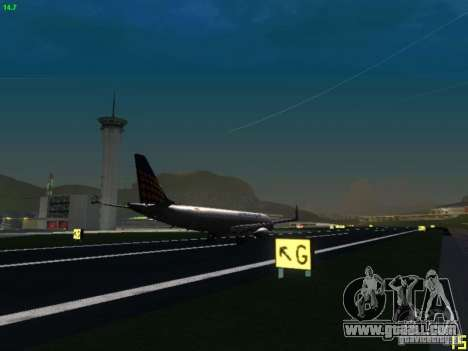 Embraer ERJ 190 Lufthansa Regional for GTA San Andreas back view