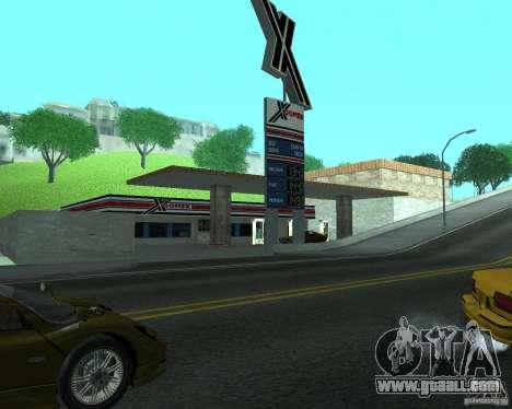 New Xoomer. new gas station. for GTA San Andreas
