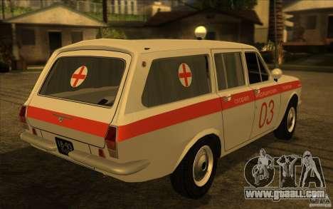 GAZ-24 Volga 03 ambulance for GTA San Andreas left view