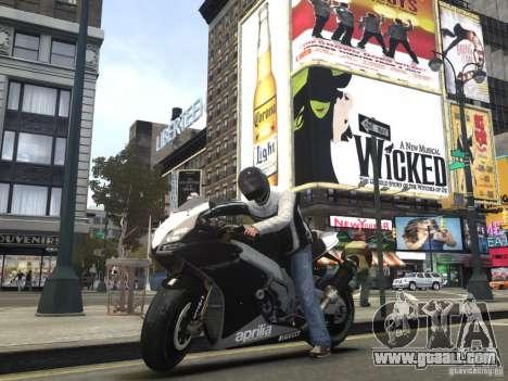 Aprilia RSV-4 Black Edition for GTA 4