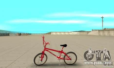 Noxon Jump Bmx for GTA San Andreas left view
