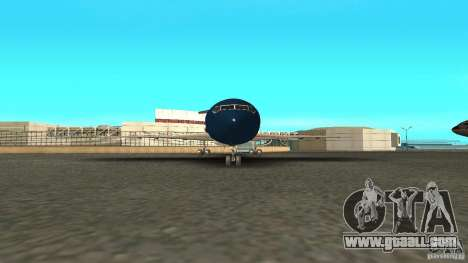 Boeing 727-200 Final Version for GTA San Andreas back left view