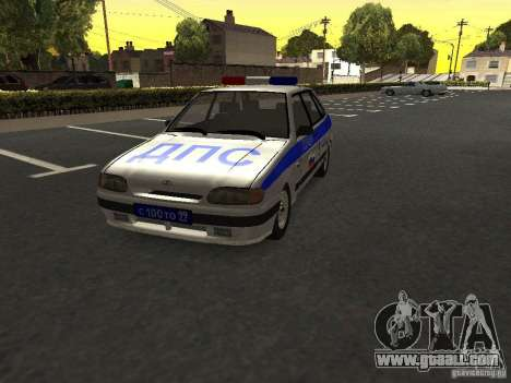 ВАЗ 2114 Police for GTA San Andreas right view