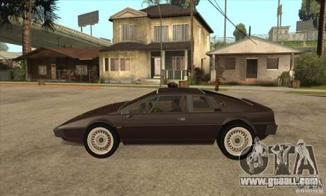 Lotus Esprit S3 for GTA San Andreas left view