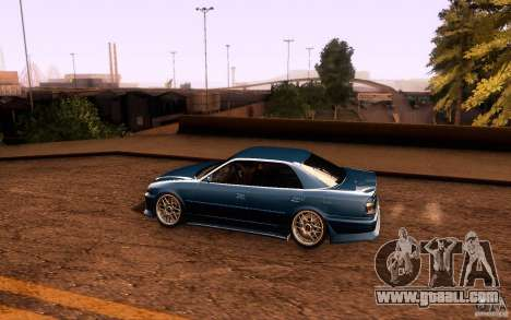 Toyota Chaser JZX100 for GTA San Andreas bottom view
