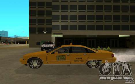 Chevrolet Caprice taxi for GTA San Andreas back left view