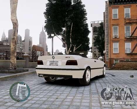 BMW M3 e36 1997 Cabriolet for GTA 4 back left view