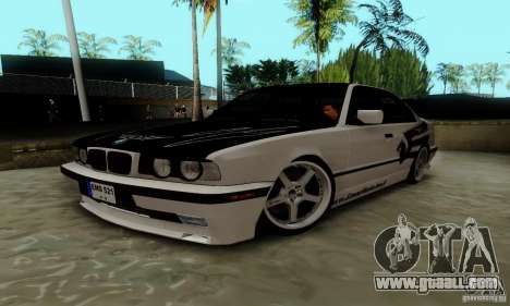 BMW E34 540i Tunable for GTA San Andreas right view