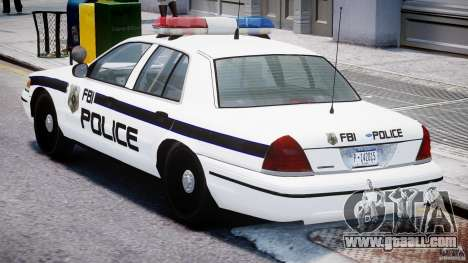 Ford Crown Victoria FBI Police 2003 for GTA 4 right view