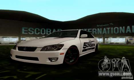 Lexus IS300 for GTA San Andreas back view