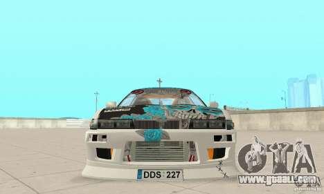 Nissan Silvia S13 NonGrata for GTA San Andreas back view