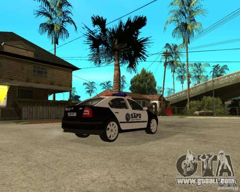 Skoda Octavia II 2005 SAPD POLICE for GTA San Andreas right view