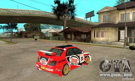 Subaru Impreza STi WRC wht1 for GTA San Andreas back view