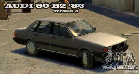 Audi 80 B2 1986 v 2.0 for GTA 4