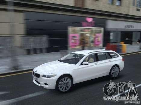 BMW M5 F11 Touring V.2.0 for GTA 4 inner view