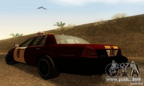 Ford Crown Victoria Minnesota Police for GTA San Andreas left view