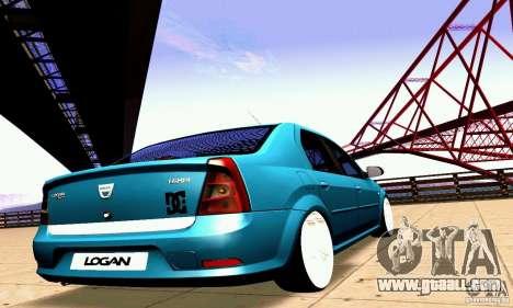 Dacia Logan 2008 for GTA San Andreas side view