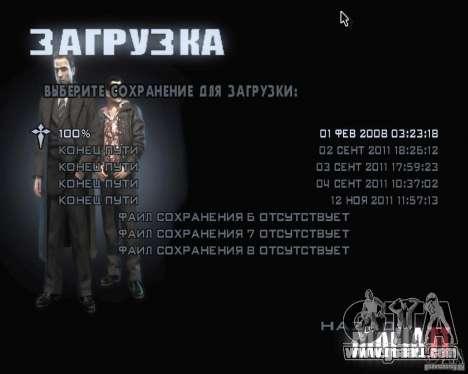 Loading screens of Mafia 2 for GTA San Andreas forth screenshot