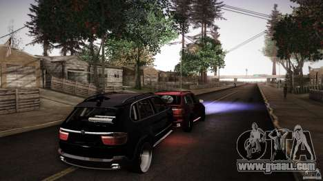 BEAM X5 Trailer for GTA San Andreas back left view