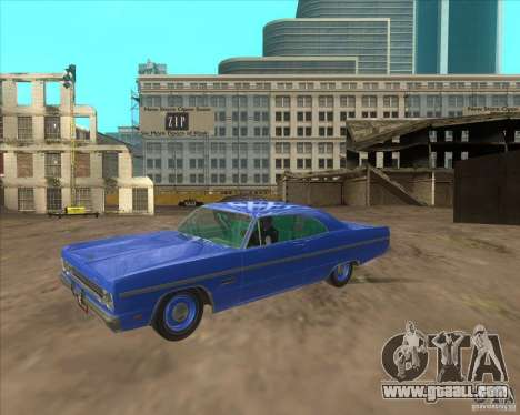 Plymouth Fury III coupe 1969 for GTA San Andreas right view
