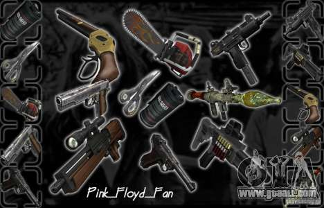 Great Pack of weapons for GTA San Andreas