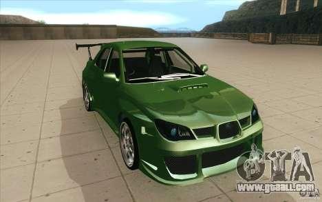 Subaru Impreza STI for GTA San Andreas back view