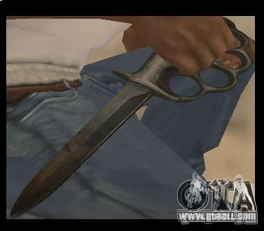Knife brass knuckles chrome-free for GTA San Andreas