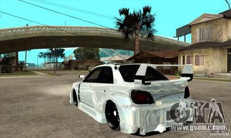 Subaru Impreza Tunned for GTA San Andreas back left view