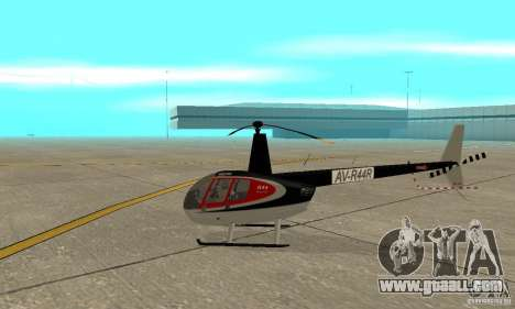 Robinson R44 Raven II NC 1.0 Skin 2 for GTA San Andreas back left view