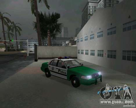 Ford Crown Victoria 2003 Police for GTA Vice City back view
