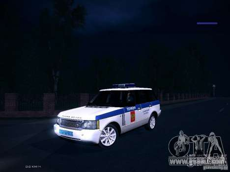 Range Rover Supercharged 2008 Police DEPARTMENT for GTA San Andreas inner view