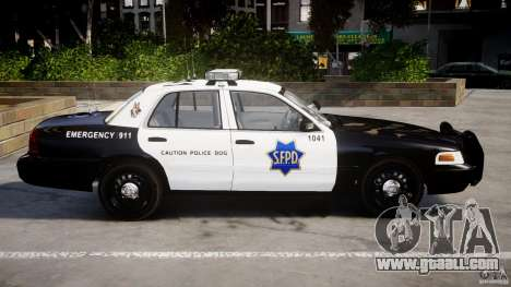 Ford Crown Victoria SFPD K9 Unit [ELS] for GTA 4 left view
