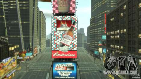 Timesquare Budweiser MOD for GTA 4