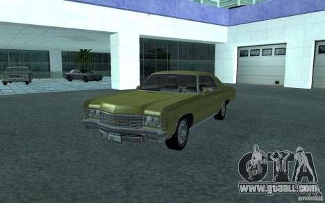 Chevrolet Impala 1971 for GTA San Andreas back left view