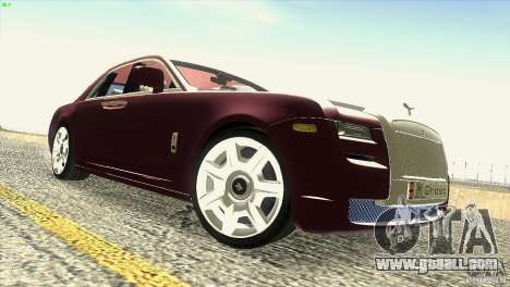 Rolls-Royce Ghost 2010 V1.0 for GTA San Andreas bottom view